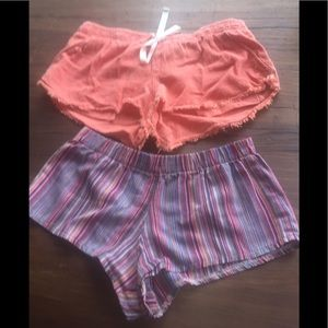 Brandy Melville Rip Curl 2 pairs of shorts Striped